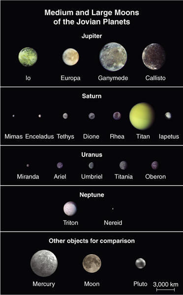 Jovian Planets and Their Moons - Pics about space