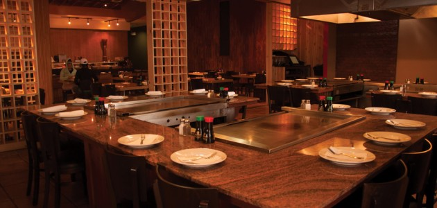 A view of the interior of Harus Steak  and Sushi restaurant in Olathe, Oct. 30. The dining area incorporates a lot of Japanese design. Photo by Tasha Cook