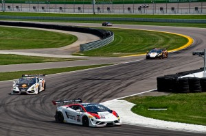 The Lamborghini Super Trofeo Challenge featured two races during the weekend. Photo by Stephen Cook.
