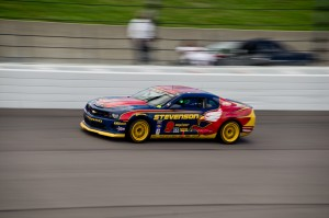 John Edwards and Matt Bell drove their Camaro GS.R to victory. Photo by Stephen Cook