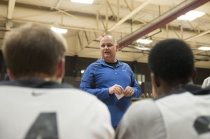 Mike Jeffers, head coach, earned his 400th win as a Cavalier on a Feb. 20 victory against the Fort Scott Greyhounds. File photo.