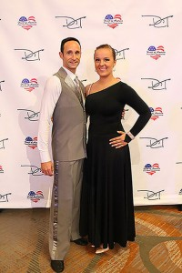 Johny Froncoviglia and Kendra Micheals display their competition attire.