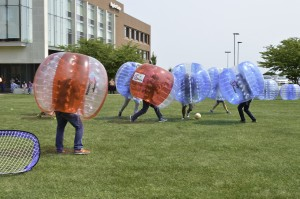 Bubble Soccer. Photo by E.J. Wood.
