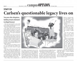 Staff Editorial from The Campus Ledger Staff. Originally published Nov. 6, 2008.
