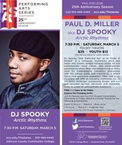 DJ Spooky (Paul Miller) will be visiting JCCC on March 4th. Please see the flyer for details.