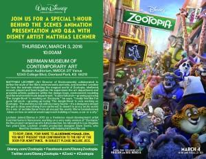 Zootopia Invite JCCC