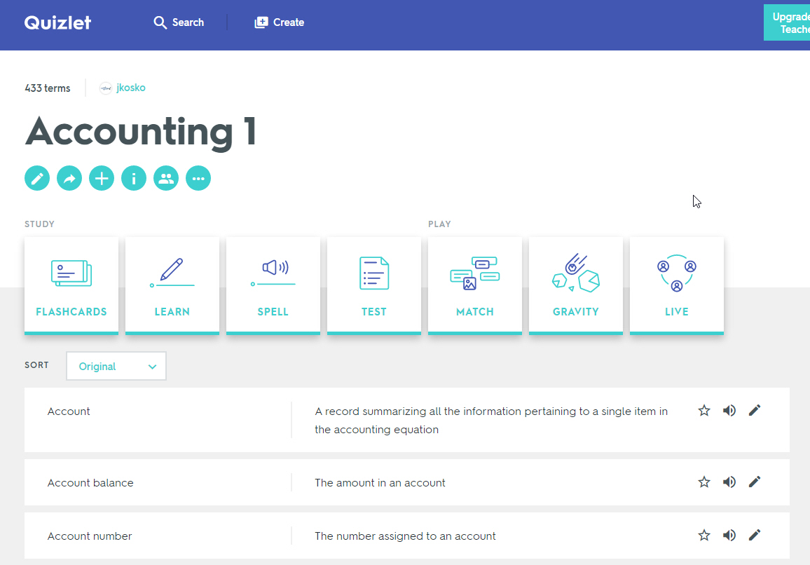 Quizlet Study/Learning Tool – Employee Resources