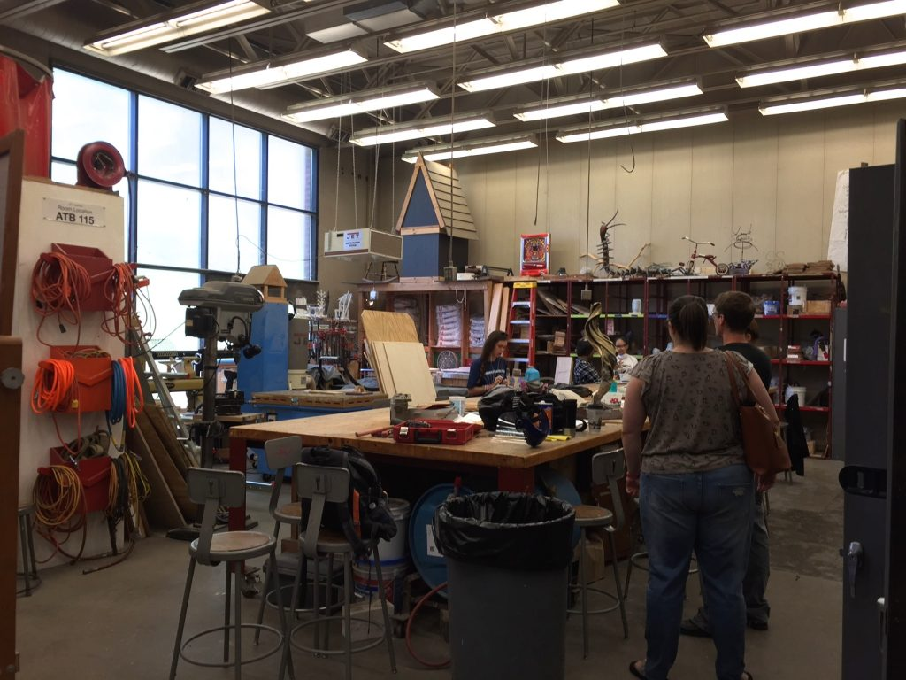 The Sculpture Lab is already brimming with activity on a Friday morning!