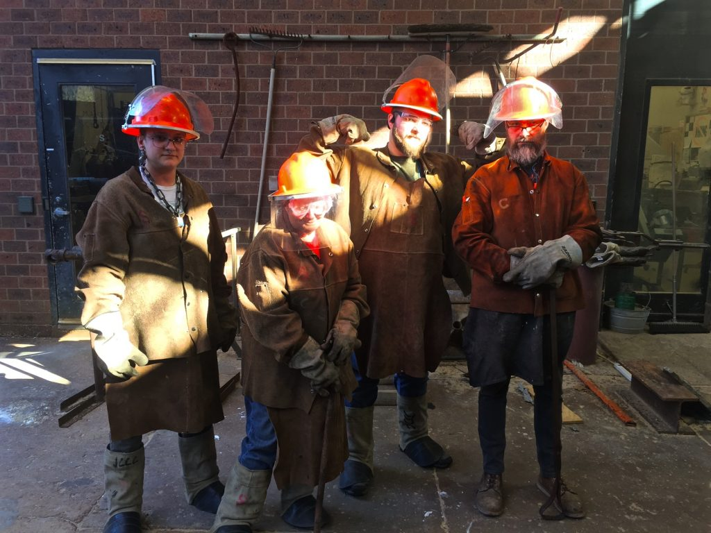 The Bronze pour Crew, with their teacher, Mark (far right)