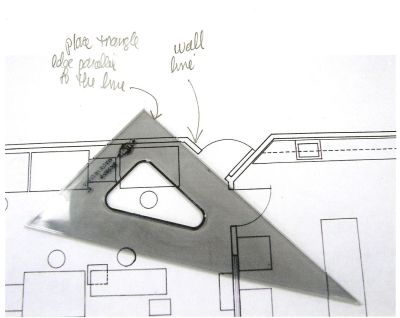 Drafting For Interior Designers Show How To Draw Multiple Parallel Angled Lines Using Two Triangles This Technique Also Works Perpendicular