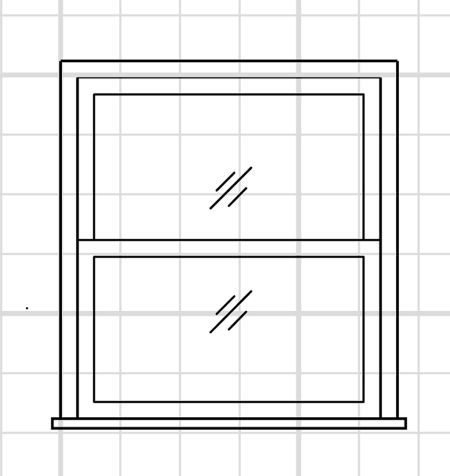 ... and a common mistake is to draw its exterior view in an interior elevation. Below is what a double-hung window looks like from the inside of a house.  sc 1 st  Johnson County Community College & Drafting a Window \u2013 Drafting Modeling and 3D Printing with Lydia ...