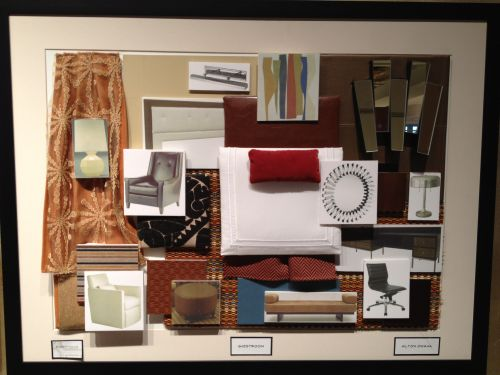 Interior design color boards commercial hospitality for Interior designer design board