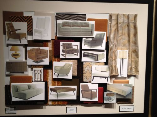 Interior Design Color Boards Commercial Hospitality Drafting Modeling And 3d Printing With
