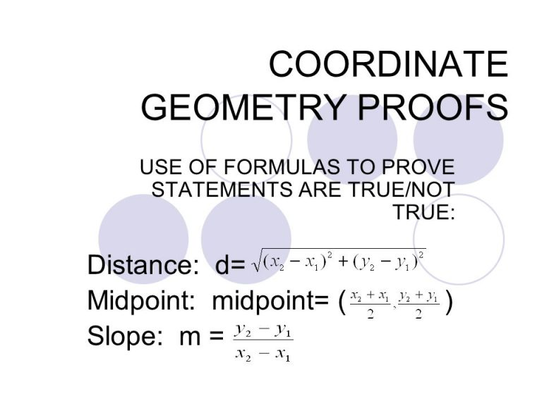 geometry proofs Chapter 1 some specimen proofs this chapter begins our study of proofs by looking at numerous examples in the next chapter we will try to summarize the logic which underlies typical proofs and the special ways the english language is used.