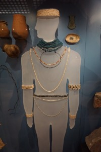 Egyptian jewelry display, Ashmolean Museum, Oxford, England