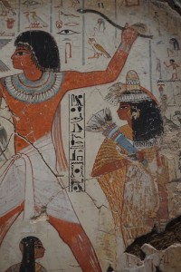 Detail from Nebamun's tomb paintings, British Museum, London, England