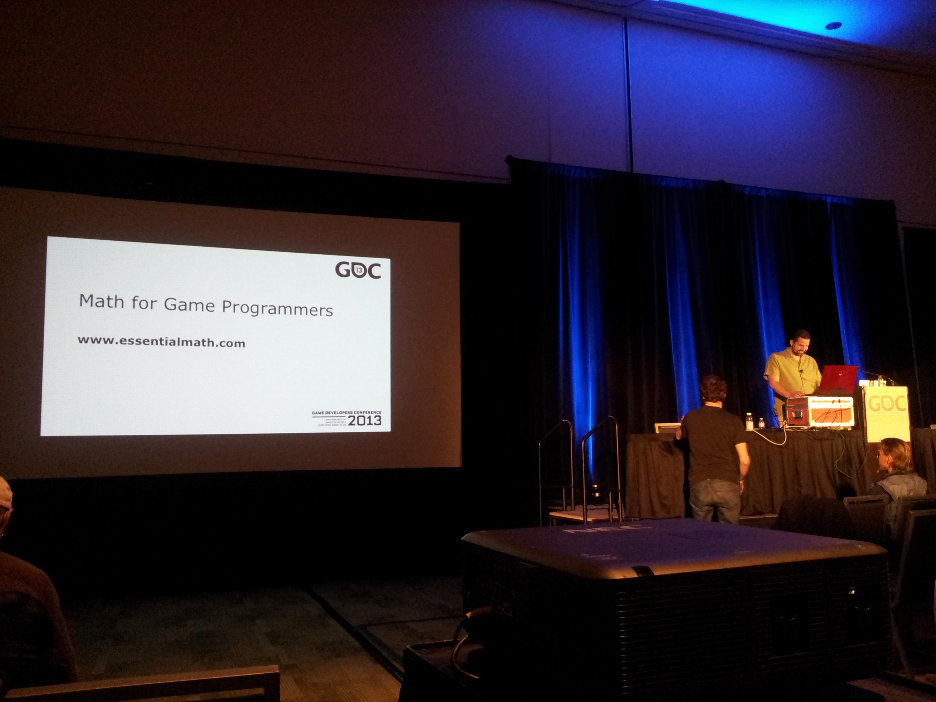 GDC 2013 – Monday Math Madness