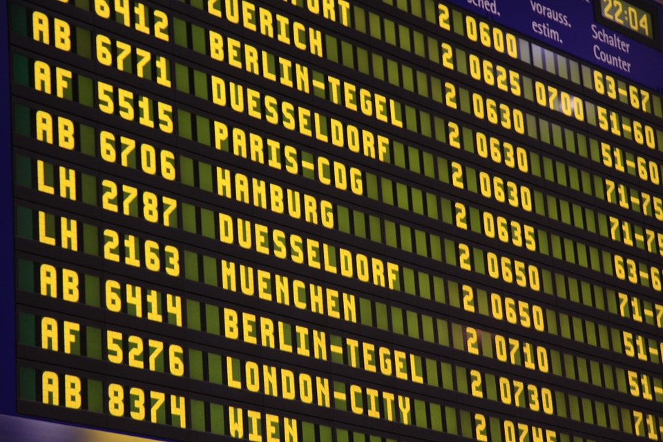 Airport screen