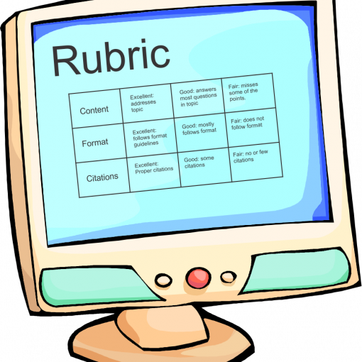 rubric on computer