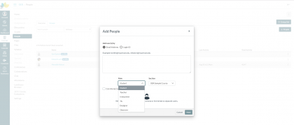 add people in canvas